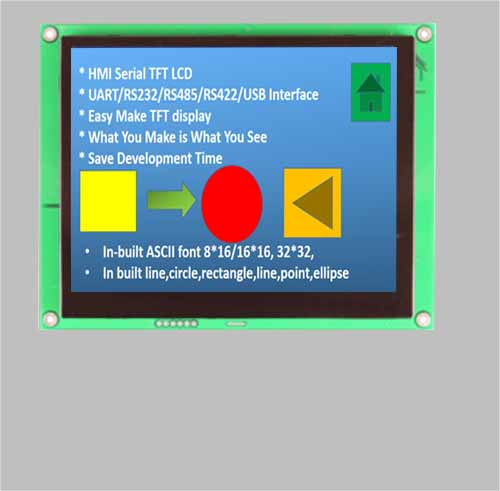 7 inch smart tft lcd display uart interface