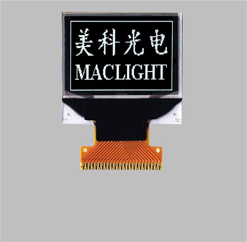 0.95 inch oled display 96x64 pixels white colors MLD095-9664A