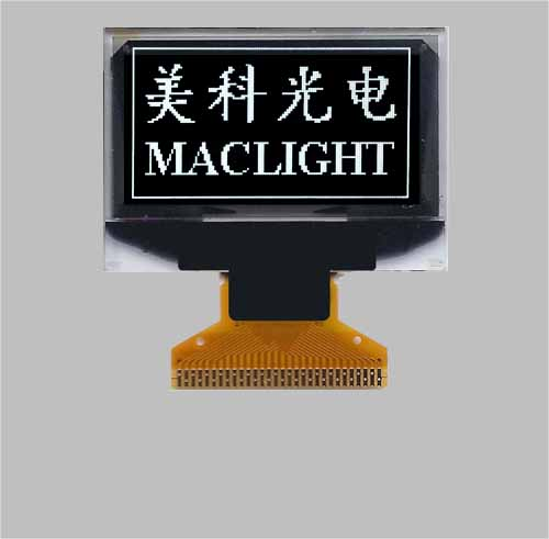 1.3 inch monochrome graphic oled display module white color 128x64 pixels MLD130-12864
