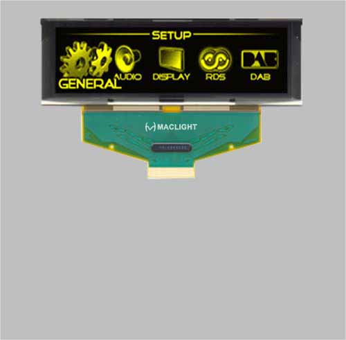 3.12 inch oled display module 256x64 pixels 16 grey scale colors MLD312-25664