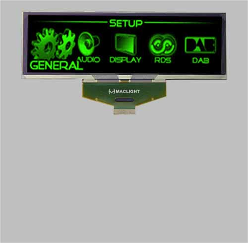 Mono grapgic 5.5 inch oled display module 256X64 pixels SSD1322 SPI interface MLD550-25664