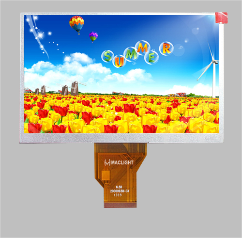 lcd tft 6.5'' touch panel optional 800x480 RGB interface MLT065W50-1