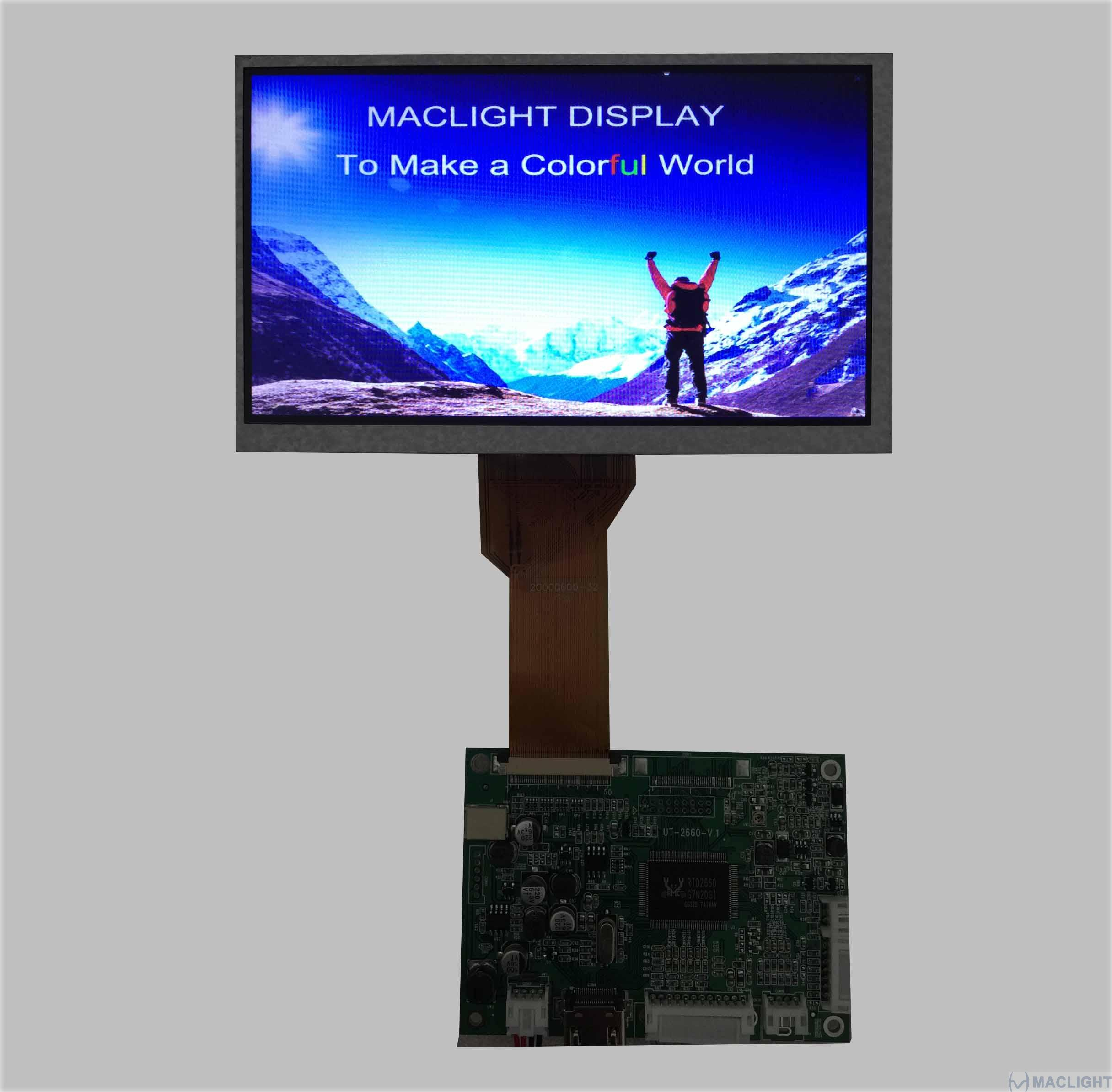 7 inch tft lcd complete display solution