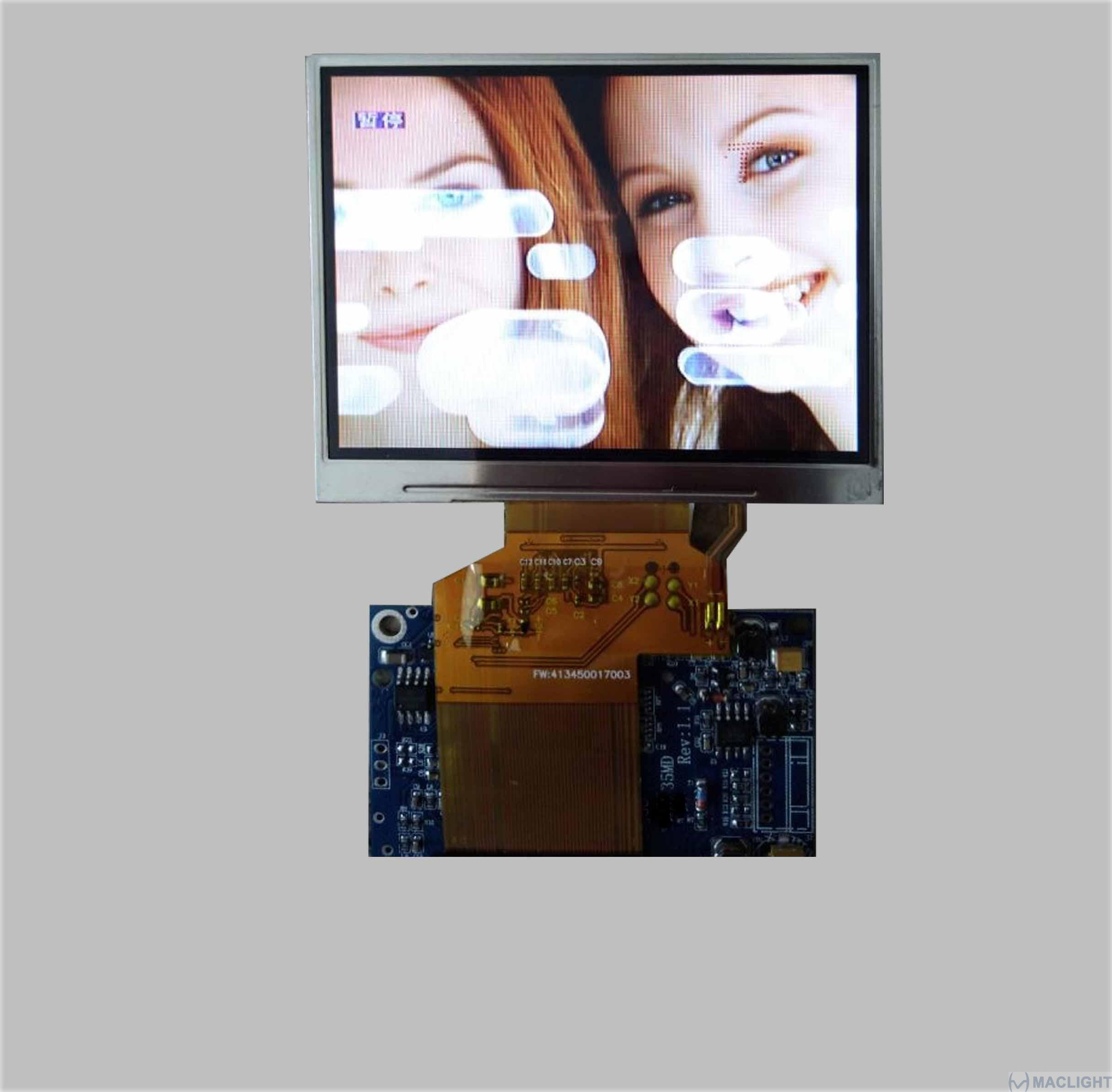 3.5 inch tft lcd complete display solution
