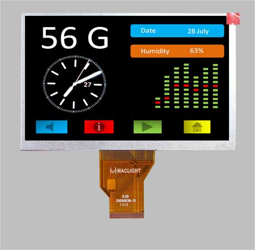 7 inch lcd colour display tft 800x480 RGB at070tn90 lcd MLT070W50-22