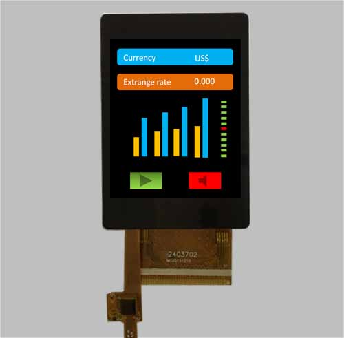 2.4 inch tft lcd module with CTP/PCT