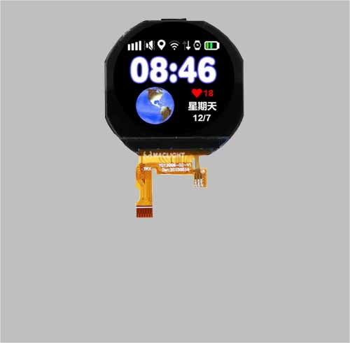 Round tft display 1.22 inch 240x204 resolution MLT012G24-5