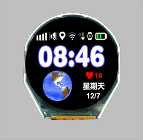 Round tft display 2.1 inch 320x320 resolution MIPI/SPI interface MLT021Q20-2