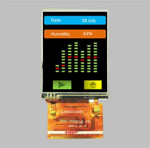 2.8 inch IPS TFT LCD full viewing angle 240x320 resolution MCU interface ILI9341 MLT028Q37-15
