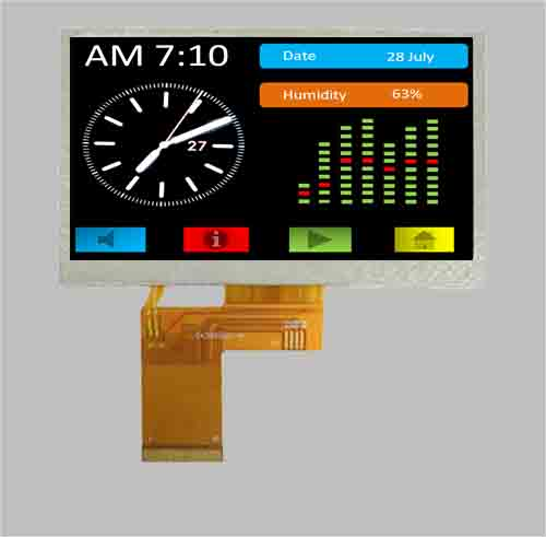 4.3 inch tft screen ST7282 lcd 480x272 MLT043R40-26