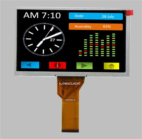 7 inch tft lcd module 800x480 replace at070tn92 MLT070W50-21