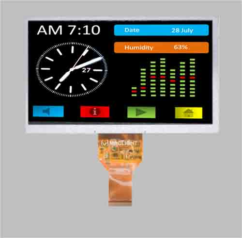 7 inch tft lcd module 40 pins combined DC-DC capacitive touch optional MLT070W40-CT26