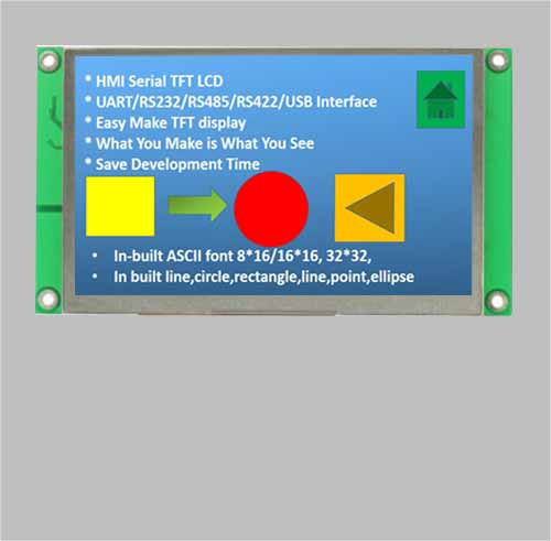 4.3 inch uart tft lcd display