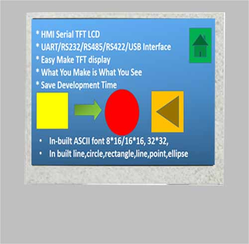 8 inch uart tft lcd display