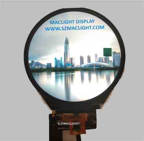 Round tft lcd display 3.4 inch newest