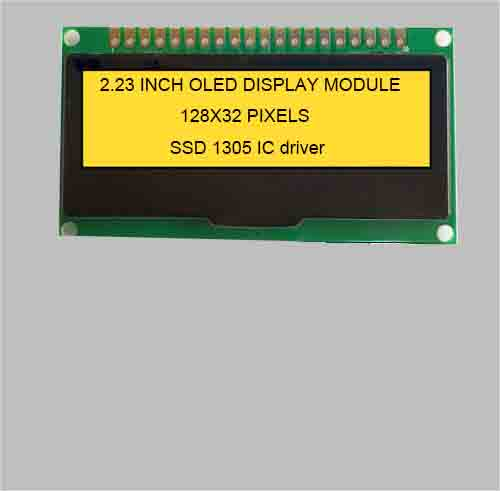 2.23 inch mono graphic oled display module wide temperature 128X32 pixels