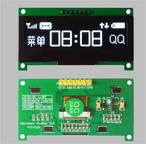 2.23 inch oled display SPI I2C interface wide temperature oled MLD223-12832E