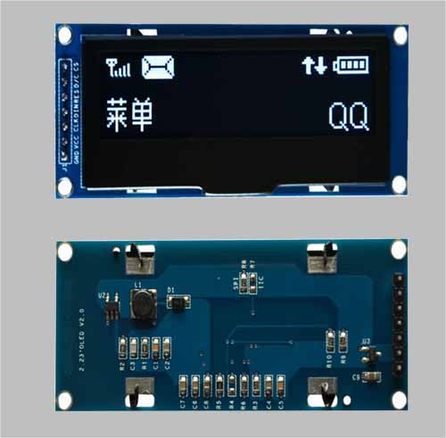 Arduino 2.23 inch mono graphic oled display screen 128x32 pixels SPI I2C interface MLD223-12832D