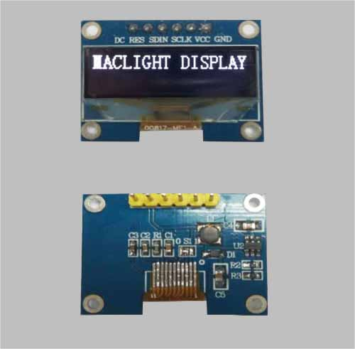 1.04 inch monochrome graphic oled display module 128x32 pixels SPI I2C interface for Arduino MLD104-12832D