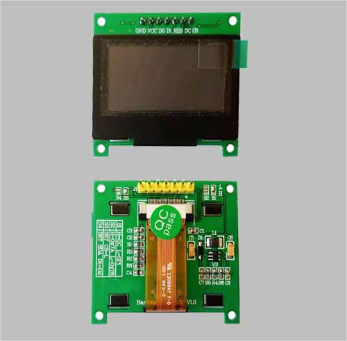 1.54 inch monochrome graphic oled display 128x64 pixels ssd1309 MLD154-12864D