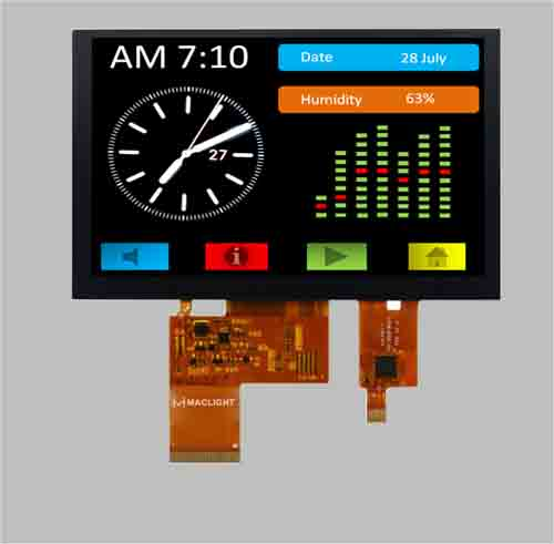 5.0 inch TFT LCD with capacitive touch panel