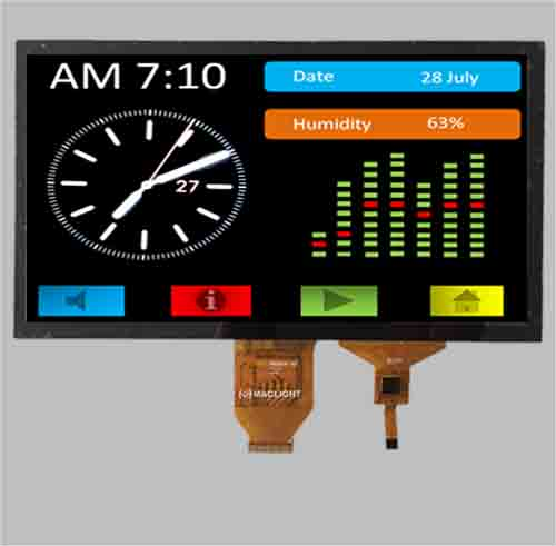 10.1 inch TFT LCD with capacitive touch panel