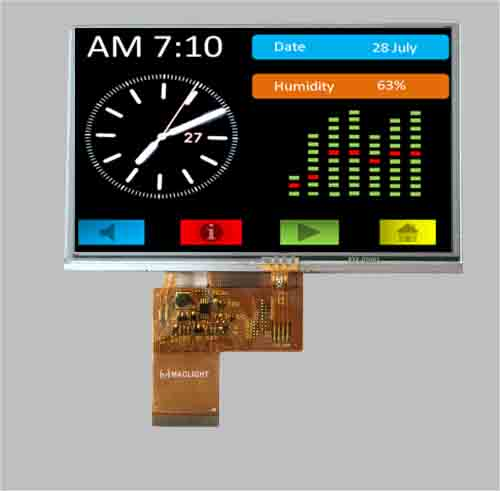 Resistive touch 4.3 tft lcd screen MLT043R40-T26