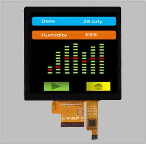 Square lcd screen 4.0 inch tft lcd 480x480 capacitive touch panel MLT040R40-CT1