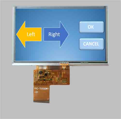 5 tft lcd panel with resistive touch 480x272