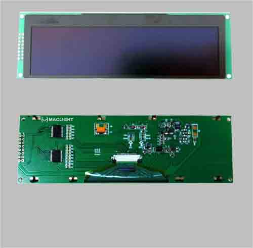 Graphic oled 5.5 inch display module with PCB SSD1322 256X64 pixels SPI interface