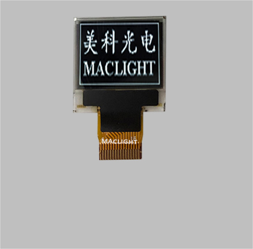 0.66 inch monochrome oled module 64x48 dots SPI interface MLD066-6448A