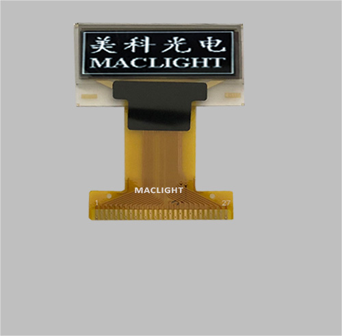 0.91 inch mono oled display module 128x32 dots Parallel/SPI/I2C interface MLD091-12832B