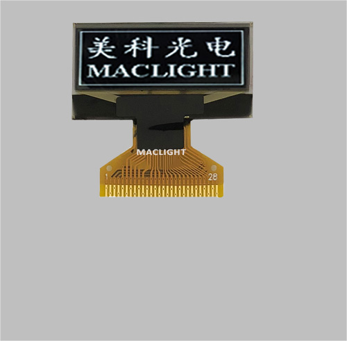 1.1 inch mono oled display module 128x36 dots Parallel/SPI/I2C interface MLD110-12836A