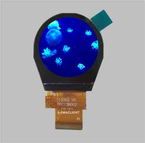 Circular lcd display 1.3 inch SPI MCU interface 240x240 pixel