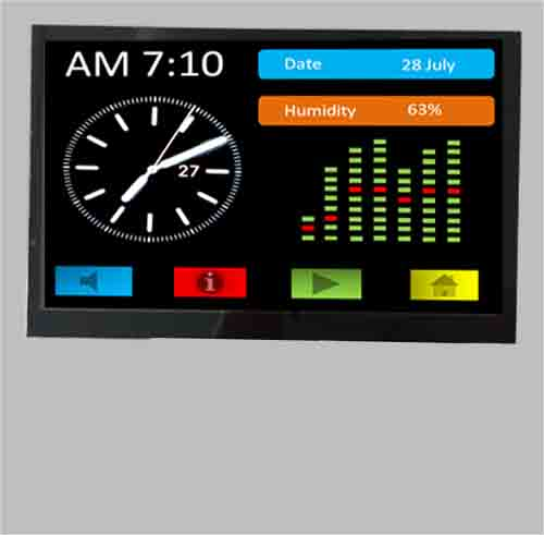 7 inch tft lcd with SSD1963 controller 800x480 MCU interface