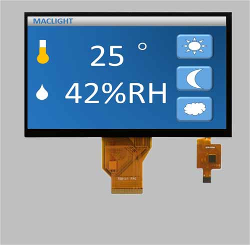 Touch screen module 7 inch capacitive touch panel MLT070W50-CT22