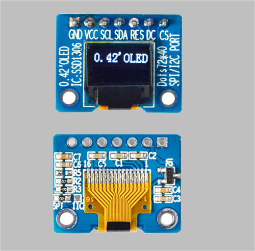 0.42 inch custom oled display module SSD1306 MLD042-7240E