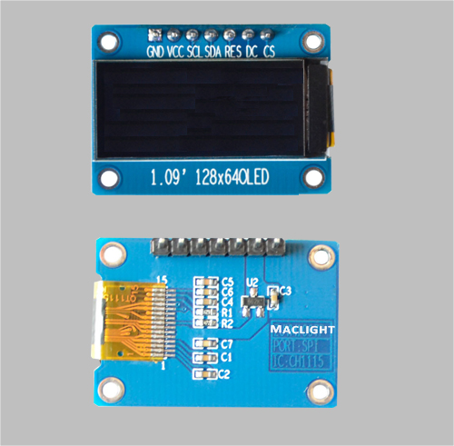 1.09 inch oled character display 128x64pixels CH1115 MLD109-12864D