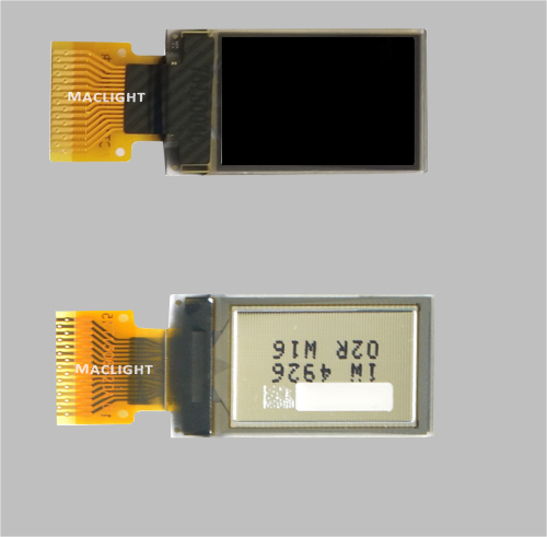 0.71 inch ssd1306 oled display module 48x64 dots SPI interface MLD071-4864A