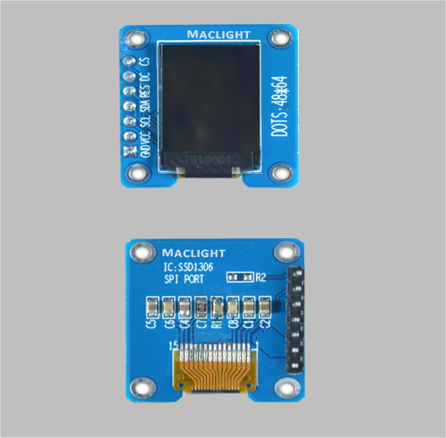 0.71 inch arduino ssd1306 oled display module 48x64 dots SPI interface MLD071-4864E