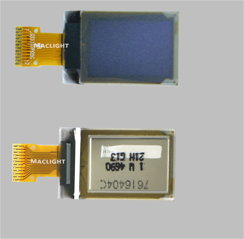 0.73 inch mirco oled display module 128x88 dots SPI/I2C interface MLD073-12888A