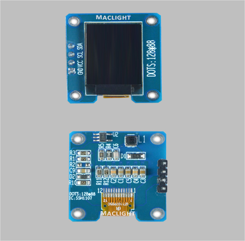 0.73 inch arduino mirco oled display module 128x88 dots I2C interface MLD073-12888D