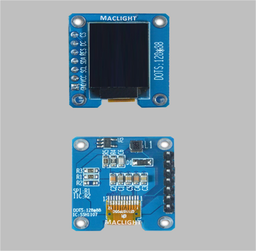 0.73 inch arduino mirco oled display module 128x88 dots SPI interface MLD073-12888E