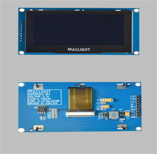 2.7 inch custom oled display 128x64 SPI interface MLD270-12864E