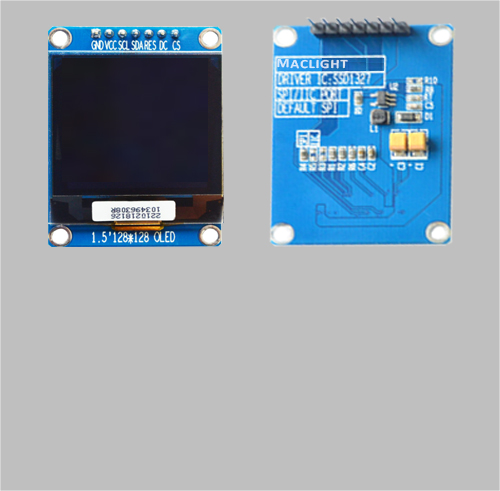 1.5 inch 128x128 oled display module white color MLD150-128128D