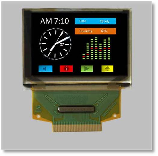 1.45 inch color oled display module 160x128 pixels SEPS525 ic MLD145-160128C