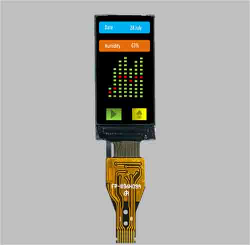 0.96 inch small lcd display ips tft spi 80x160 MLT009G8-01